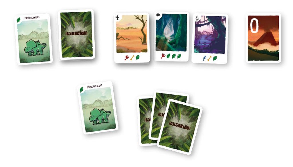 ¡Extinción! Componentes - Juego de Cartas | TOP TOYS