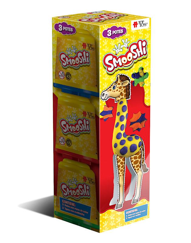 Smooshi Pack 3 Potes ¡Tu súpermasa para jugar! Juego Infantil   TOP TOYS
